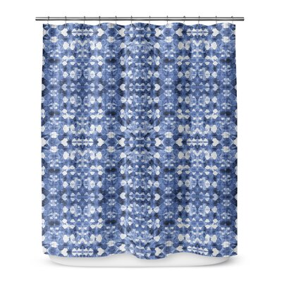 Shibori Mirror Shower Curtain