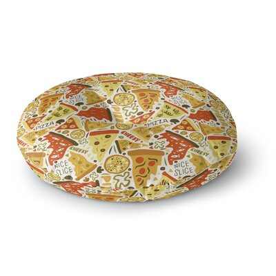 Pizza Pies Round Floor Pillow Size: 23 H x 23 W x 9.5 D