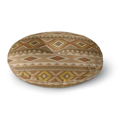 Sedona Round Floor Pillow Size: 23 H x 23 W x 9.5 D, Color: Light Brown
