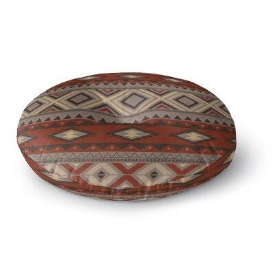 Cabarley Round Floor Pillow Size: 23 H x 23 W x 9.5 D, Color: Brown