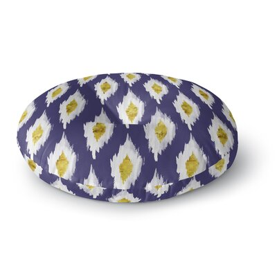 Abstract Abyss Round Floor Pillow Size: 23 H x 23 W x 9.5 D