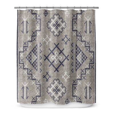Cyrill Shower Curtain Color: Dark Blue