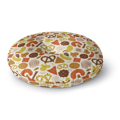 Snack Time Round Floor Pillow Size: 23 H x 23 W x 9.5 D
