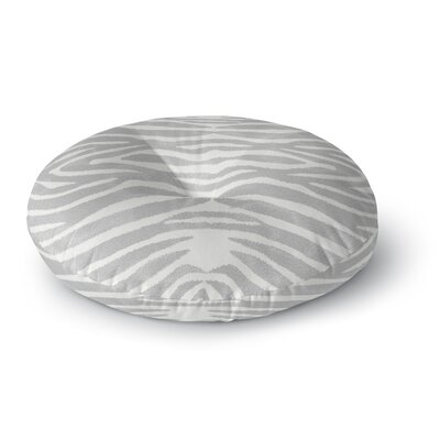 Nerbone Round Floor Pillow Size: 23 H x 23 W x 9.5 D, Color: Gray