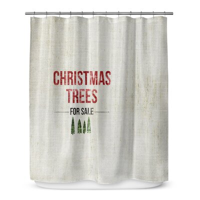 "Christmas Tree for Sale 72"" Shower Curtain SCT-SPLSC-70X72-TEL1040"