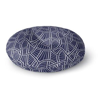 Geo Vines Round Floor Pillow Size: 23 H x 23 W x 9.5 D