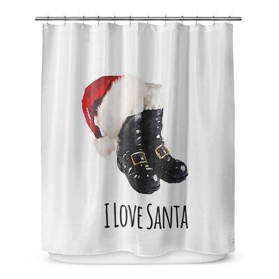 I Love Santa 72 Shower Curtain