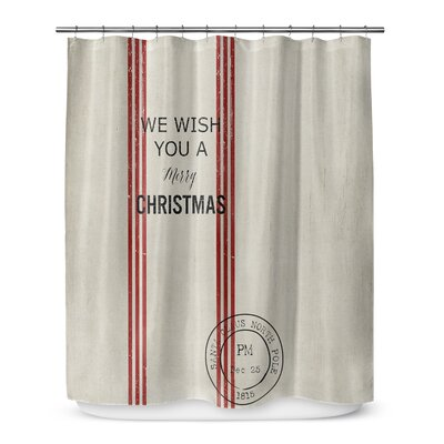 "We Wish You a Merry Christmas 72"" Shower Curtain SCT-SPLSC-70X72-TEL1073"
