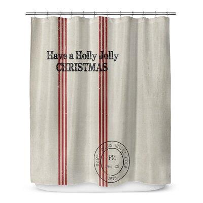 Holly Jolly Christmas 72 Shower Curtain