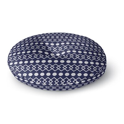 Chains and Dots Round Floor Pillow Size: 23 H x 23 W x 9.5 D