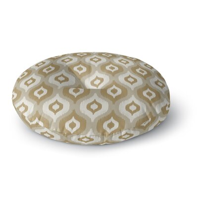 Harmony Round Floor Pillow Color: Tan, Size: 26 H x 26 W x 12.5 D