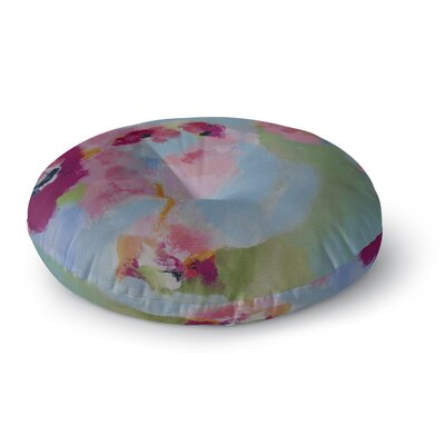 Your Place or Mine Round Floor Pillow Size: 23 H x 23 W x 9.5 D