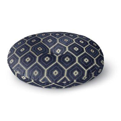 Honey Comb Round Floor Pillow Size: 26 H x 26 W x 12.5 D, Color: Navy