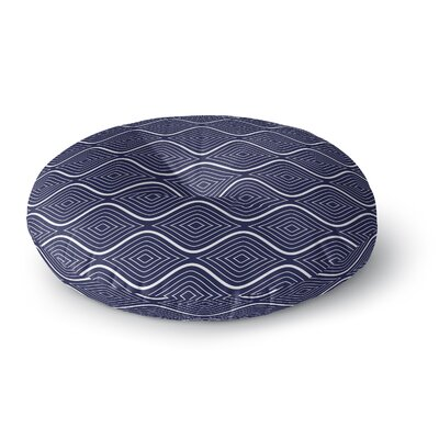 Flowing Ogee Round Floor Pillow Size: 26 H x 26 W x 12.5 D