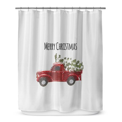 Christmas Truck 72 Shower Curtain