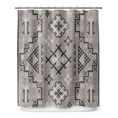 Cyrill Shower Curtain Color: Black