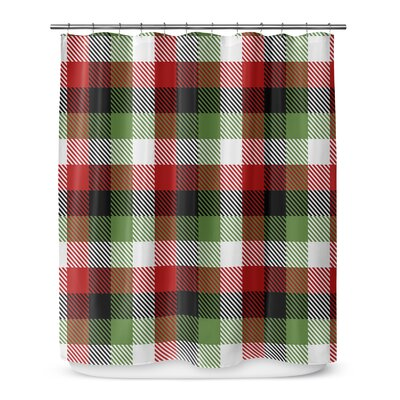 Christmas Plaid 72 Shower Curtain