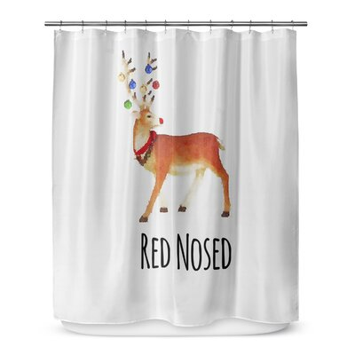 Red Nosed 72 Shower Curtain