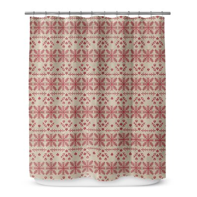 Christmas in Red  72 Shower Curtain