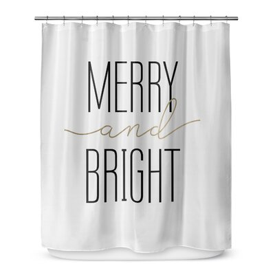 Merry and Bright 72 Shower Curtain Color: Ivory