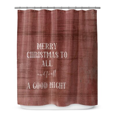 "Merry Christmas to All 72"" Shower Curtain SCT-SPLSC-70X72-TEL1057"