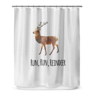 Run Run Reindeer 72 Shower Curtain