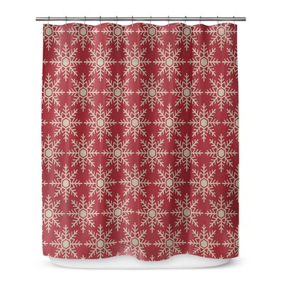Snow Flakes 72 Shower Curtain