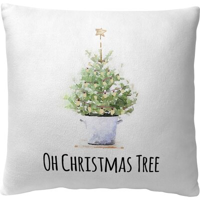 Oh Christmas Tree Fleece Throw Pillow