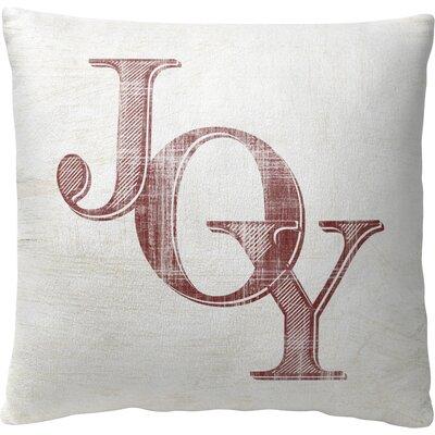 Joy Fleece Throw Pillow