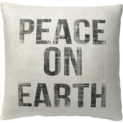 Peace on Earth Fleece Throw Pillow