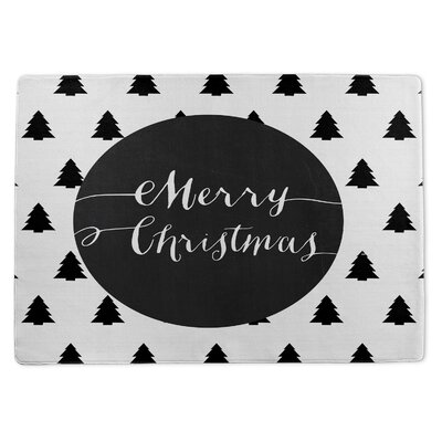 Merry Christmas Doormat Rug Size: 5 x 7