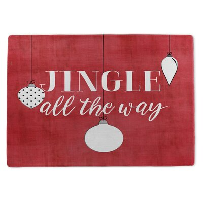 Jingle All the Way Doormat Rug Size: 5 x 7