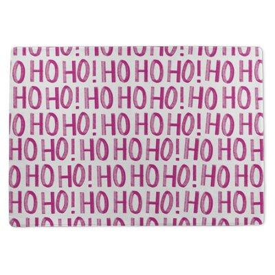 Ho Ho Ho Ho Doormat Rug Size: 3 x 5