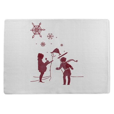 Lets Build a Snowman Doormat Rug Size: 5 x 7