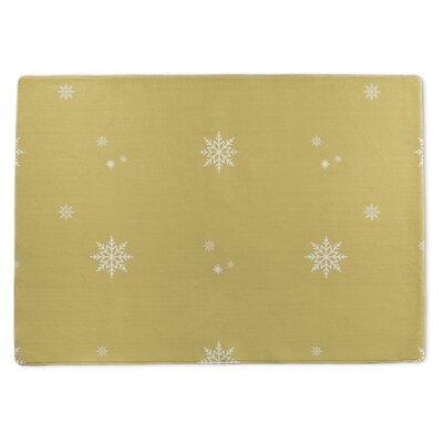 Snowflakes Doormat Rug Size: 5 x 7
