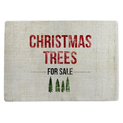 Christmas Tree for Sale Doormat Rug Size: 5 x 7