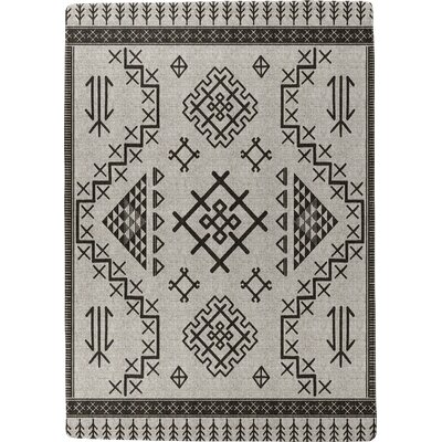 Burlington Marrakesh Black/Beige Area Rug Rug Size: 3 x 5