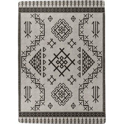 Burlington Marrakesh Black/Beige Area Rug Rug Size: 5 x 7