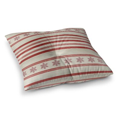 Holiday Stripes Floor Pillow Size: 23 H x 23 W x 9.5 D