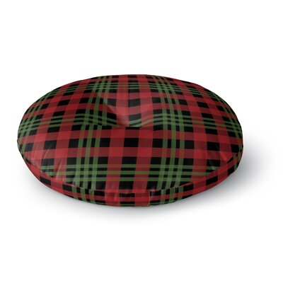 Christmas Plaid Floor Pillow Size: 23 H x 23 W x 9.5 D