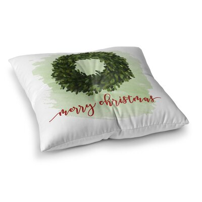 Merry Christmas Floor Pillow Size: 23 H x 23 W x 9.5 D