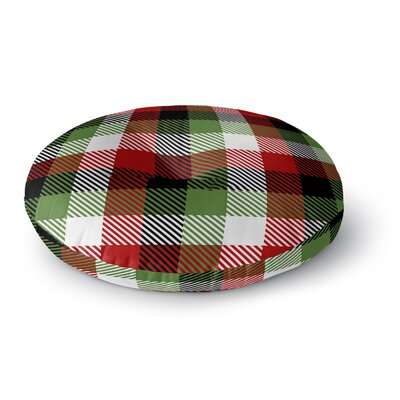 Christmas Plaid Floor Pillow Size: 26 H x 26 W x 12.5 D
