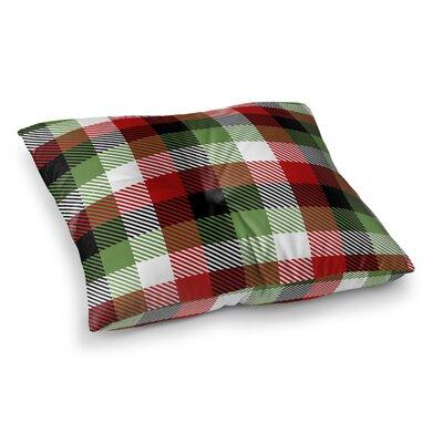 Christmas Plaid Floor Pillow Size: 26 H x 26 W x 12.5 D