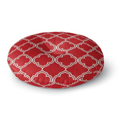 Moroccan Christmas Floor Pillow Size: 23 H x 23 W x 9.5 D