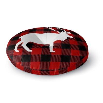 Deer Plaid Floor Pillow Size: 26 H x 26 W x 12.5 D