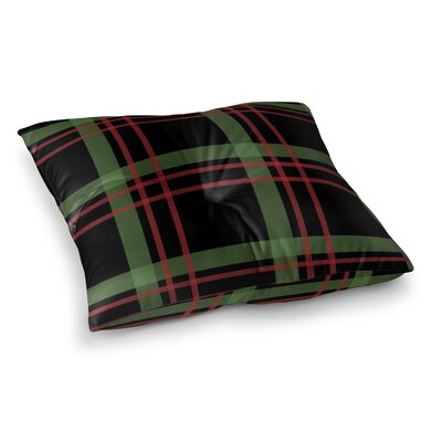 Christmas Plaid Floor Pillow Size: 26