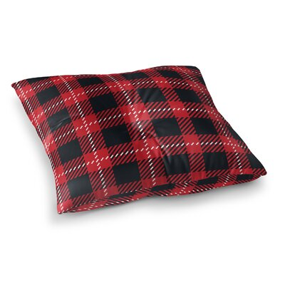 Christmas in Plaid Floor Pillow Size: 26 H x 26 W x 12.5 D