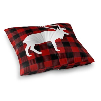 Deer Plaid Floor Pillow Size: 23 H x 23 W x 9.5 D