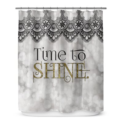 Time to Shine 90 Shower Curtain