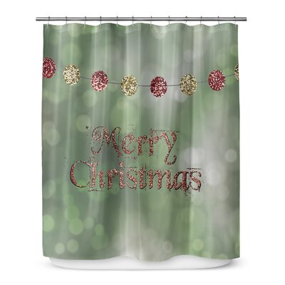 "Merry Christmas 72"" Shower Curtain SCT-SPLSC-70X72-PLU2650"